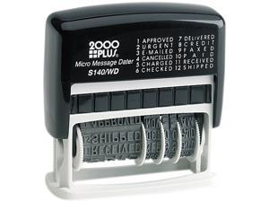 COSCO 011090 2000 PLUS Micro Message Dater, Self-Inking