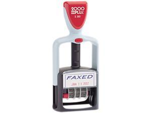 "COSCO 011032 2000 PLUS Two-Color Word Dater, ""Faxed,"" Self-Inking"