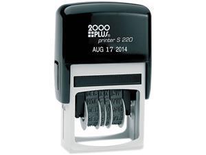 COSCO 010129 2000 PLUS Economy Dater, Self-Inking, Black