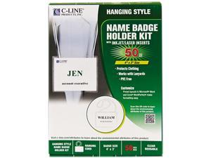 C-line 97043 Biodegradable Name Badge Holder Kits, Top Load, Clear, 4 x 3, 50/Box