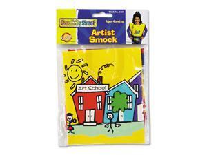 Chenille Kraft 5207 Kraft Artist Smock, Fits Kids Ages 3-8, Vinyl, Bright Colors, 144/Carton
