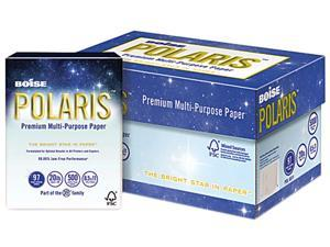 Boise POLARIS 3-Hole Punched Copy Paper, 8 1/2 x 11, 20lb, White, 5,000 Sheets/Carton