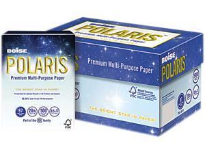 Boise POLARIS 3-Hole Punched Copy Paper, 8 1/2 x 11, 20lb, White, 5,000 Sheets/Carton