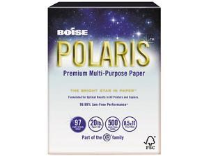Boise POL-8511 POLARIS Copy Paper, 8 1/2 x 11, 20lb White, 5,000 Sheets/Carton