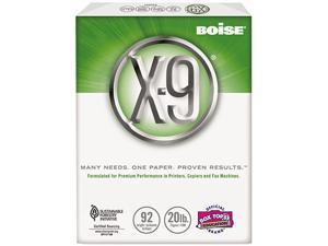 Boise OX9001JR X-9 Copy Paper, 92 Brightness, 20lb, 8-1/2 x11, White, 2500 Sheets/Carton