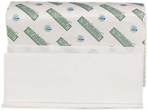 Boardwalk 23GREEN Green Plus Folded Towels, Multi-Fold, White, 9 1/8 x 9 1/2, 250/Pack, 12/Carton