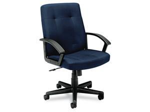 basyx VL602VA90T VL602 Managerial Mid-Back Chair, Navy Fabric