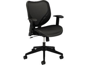 basyx VL552MST1 VL552 Mid-Back Work Chair, Mesh Seat and Back, Black