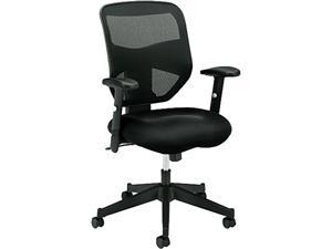 basyx VL531MM10 VL531 High-Back Work Chair, Mesh Back, Padded Mesh Seat, Black