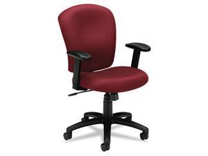 basyx VL220VA62 VL220 Mid-Back Task Chair, Burgundy