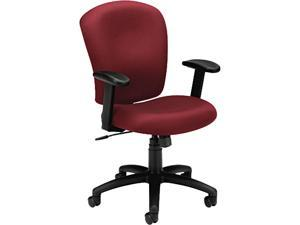 basyx VL220VA62 VL220 Mid-Back Task Chair, Burgundy