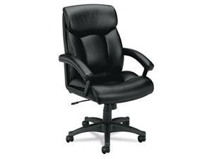 basyx VL151SB11 VL151 Executive High-Back Chair, Black Leather