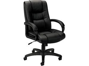 basyx VL131EN11 VL131 Executive High-Back Chair, Black Vinyl