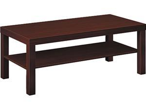 basyx BLH3160N Laminate Occasional Table, 42w x 20d x 16h, Mahogany