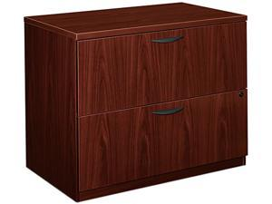 basyx BL2171NN BL Laminate Two-Drawer Lateral File, 35-3/4w x 22d x 29h, Mahogany