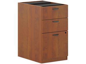 basyx BL2162A1 BL Laminate 3-Drawer Pedestal File, 15-5/8w x 21-3/4d x 27-3/4h, Medium Cherry