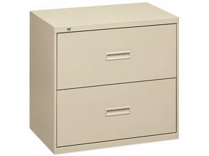 basyx 482LL 400 Series Two-Drawer Lateral File, 36w x 19-1/4d x 28-3/8h, Putty