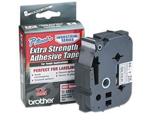 Brother TZES951 TZ Extra-Strength Adhesive Laminated Labeling Tape, 1w, Black on Matte Silver