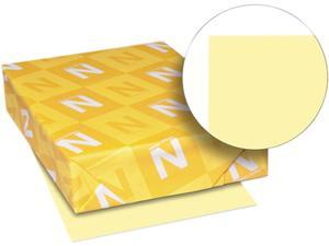 Wausau Paper 49541 Exact Index Card Stock, 110 lbs., 8-1/2 x 11, Canary, 250 Sheets/Pack