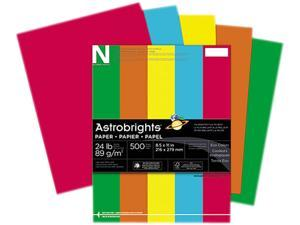 Wausau Paper 22226 Astrobrights Eco Brights Colored Paper, 24lb, 8-1/2 x 11, Assorted, 500 Shts/Rm