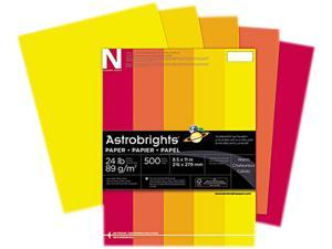 Wausau Paper 20272 Astrobrights Colored Paper, 24lb, 8-1/2 x 11, Warm Assortment, 500 Sheets/Ream