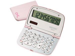Victor 909-9 909-9 Limited Edition Pink Compact Calculator, 10-Digit LCD