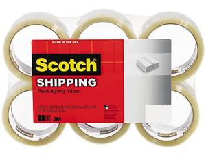 "Scotch 3350-6 Lightweight Shipping Packaging Tape, 1.88"" x 54.6 yds, Clear, 6/Pack"