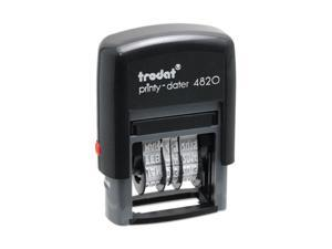 Trodat Trodat Economy Stamp, Dater, Self-Inking, 1 5/8 x 3/8, Black