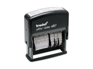Trodat                                   Trodat Economy 12-Message Stamp, Dater, Self-Inking, 2 x 3/8, Black