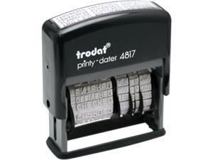 Trodat E4817 Trodat Economy 12-Message Stamp, Dater, Self-Inking, 2 x 3/8, Black