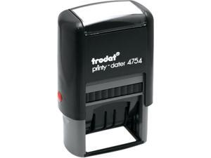Trodat E4754 Trodat Economy 5-in-1 Stamp, Dater, Self-Inking, 1 5/8 x 1, Blue/Red