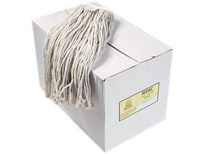 UNISAN 224CCT Premium Cut-End Wet Mop Heads, Cotton, 24-oz., White, 12/Carton