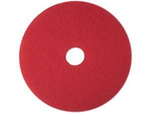 "3M 08388 Buffer Floor Pad 5100, 13"", Red, 5 Pads/Carton"