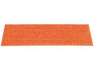 """UNISAN 18WET Microfiber Wet Mop, Nylon Backing, Green Fringe, 19.5"""""""