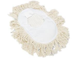 UNISAN 1491 Wedge Dust Mop Head, Cotton, 17 1/2l x 13 1/2w, White