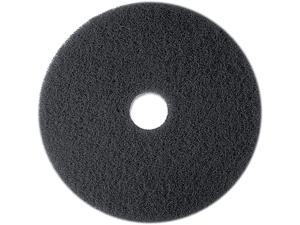 "3M 08271 High Productivity Floor Pad 7300, 13"", Black, 5 Pads/Carton"