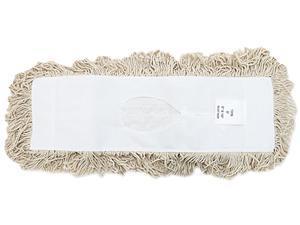 UNISAN 1318 Industrial Dust Mop Head, Hygrade Cotton, 18w x 5d, White