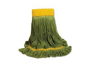UNISAN 1200L EcoMop Looped-End Mop Head, Recycled Fibers, Large Size, Green