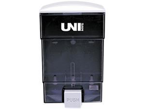 UNISAN 03019 Deluxe Plastic Liquid Soap Dispenser, 50 oz, 4-3/4w x 4-1/4d x 7-1/2h, Black