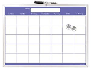 The Board Dudes 44070VA-4 Magnetic Dry Erase Board, Monthly Planner, 23 x 17, Aluminum Frame