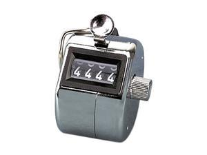 GBC Tally I Hand Model Tally Counter, Registers 0-9999, Chrome