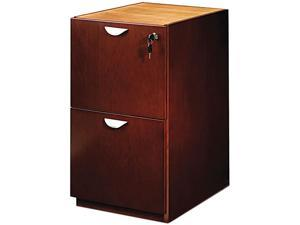 Mayline MPFF22MC Mira Series File/File Credenza Pedestal, 15w x 22d x 27¾h, Medium Cherry
