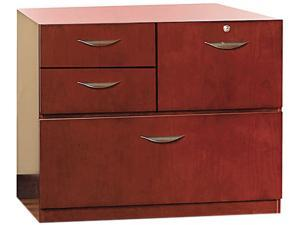 Mayline MMPSU1930MC Mira Series Veneer Multipurpose Storage Unit, 30w x 19d x 27¾h, Medium Cherry