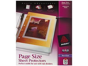 Avery 74204 Top-Load Poly Three-Hole Sheet Protectors, Non-Glare, Letter, 50/Box
