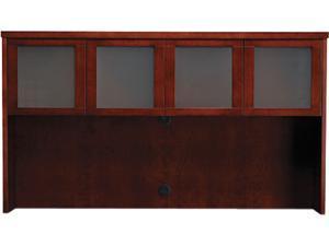 Mayline MHGD3970MC Mira Series Wood Veneer Framed Glass Hutch Doors, Medium Cherry