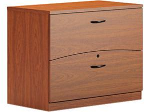 Mayline BTFLF36LCR Brighton Series Laminate 2-Drawer Lateral File, 36w x 20d x 29h, Cherry