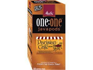 Melitta 75424 One:One Coffee Pods, Parisian Cafe, 18 Pods/Box