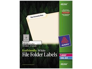 Avery 48266 EcoFriendly Labels, 2/3 x 3-7/16, White, 750/Pack