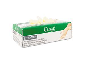 Curad                                    Synthetic Vinyl Powder-Free Exam Gloves, X-Large, 90/Box