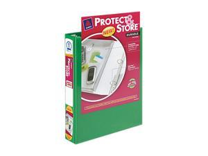 "Avery                                    Protect & Store View Mini Binder, Round Ring, 5-1/2 x 8-1/2, 1"" Capacity, Green"